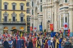 6 de enero celebración tradicional en Florencia, Italia Foto de archivo
