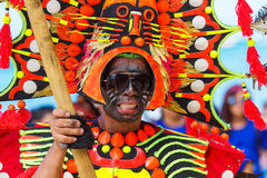 10 de enero de 2016 Boracay, Filipinas Festival ATI-Atihan U Foto de archivo