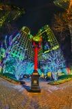 1 de enero de 2014, Charlotte, nc, los E.E.U.U. - vida nocturna alrededor del charlot Imagen de archivo libre de regalías