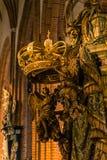 21 de enero de 2017: Detalle de la decoración de la catedral de S Fotografía de archivo