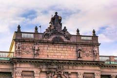 21 de enero de 2017: Detalles del parlamento de Estocolmo, Suecia fotografía de archivo libre de regalías