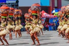 24 de enero de 2016 Iloilo, Filipinas Festival Dinagyang Unid Foto de archivo libre de regalías
