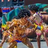 24 de enero de 2016 Iloilo, Filipinas Festival Dinagyang Unid Foto de archivo