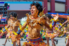 24 de enero de 2016 Iloilo, Filipinas Festival Dinagyang Unid Fotografía de archivo