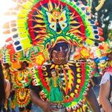 17 de enero de 2016 Kalibo, Filipinas Festival ATI-Atihan uni Fotografía de archivo libre de regalías