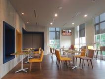 14 de enero de 2017, Kuala Lumpur El inlook del restaurante en Ibis diseña el hotel Sri Damansara Imagenes de archivo