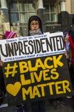 21 DE ENERO DE 2017, LOS ÁNGELES, CA 750.000 participan en marzo de las mujeres, activistas que protestan a Donald J Triunfo en l Imagen de archivo