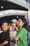 5 de enero de 2014: Manifestantes antigubernamentales en Democra Imagen de archivo