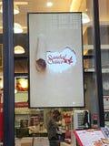 15 de enero de 2017 Menú del cartel en el restaurante NU Sentral del sambal y de la salsa Foto de archivo libre de regalías