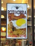 15 de enero de 2017 Menú del cartel en el restaurante NU Sentral del sambal y de la salsa Imagenes de archivo