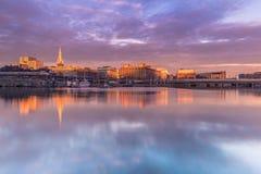 21 de enero de 2017: Panorama de la ciudad vieja del franco tomado Estocolmo Fotografía de archivo