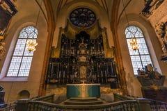 21 de enero de 2017: Panorama del interior de la catedral de S Imágenes de archivo libres de regalías