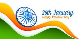 26 de enero diseño indio de la bandera para el día de la república libre illustration
