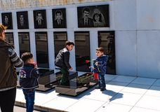 20 de enero tragedia en Baku Shehidlar Hiyabani Fotos de archivo