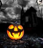 De enge achtergrond van Halloween Royalty-vrije Stock Afbeeldingen