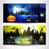 De enge achtergronden van Halloween stock illustratie