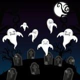 De enge beeldverhalen van Halloween vector illustratie