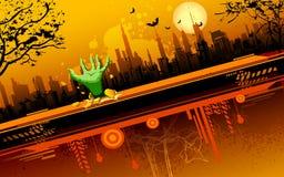 De enge Nacht van Halloween Stock Afbeeldingen