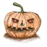 De enge pompoen van Halloween Royalty-vrije Stock Afbeeldingen