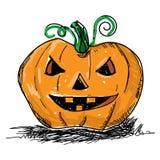 De enge pompoen van Halloween Typografische afficheachtergrond Royalty-vrije Stock Afbeeldingen