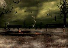 De Enge Scène van Halloween Royalty-vrije Stock Afbeeldingen