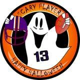 De enge voetbalster van Halloween Stock Foto