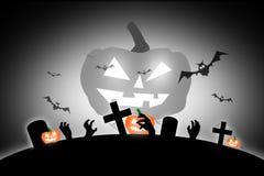 De enge volle maan van Halloween en dode boom samen met een verschrikking B Royalty-vrije Stock Fotografie
