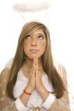 De engel bidt Stock Afbeeldingen