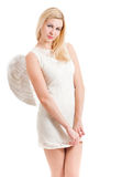 De engel is een meisje Royalty-vrije Stock Afbeeldingen