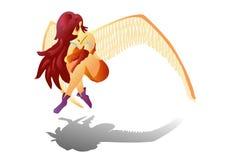 De Engel van Anime (Vector) Stock Afbeeldingen