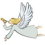 De engel van beeldverhaalkerstmis vector illustratie
