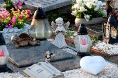 De Engel van Cementary Stock Foto's