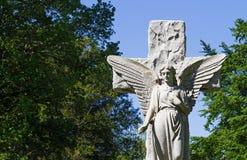 De Engel van de begraafplaats Stock Afbeelding