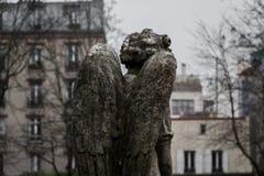 De engel van de begraafplaats Stock Afbeeldingen