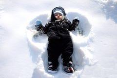 De Engel van de sneeuw Stock Afbeeldingen