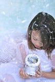 De Engel van de sneeuw Stock Foto