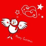 De engel van de sneeuwman Stock Foto's