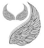 De engel van de vleugel Stock Afbeeldingen