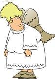 De Engel van de vrouw royalty-vrije illustratie