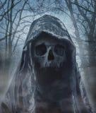 De engel van dood Demon van duisternis Photomanipulation Stock Afbeeldingen
