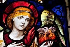De Engel van het gebrandschilderd glas Royalty-vrije Stock Foto
