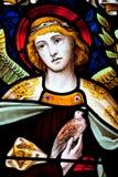 De Engel van het gebrandschilderd glas Stock Afbeelding