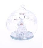 De engel van het glas royalty-vrije stock afbeeldingen