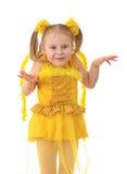 De engel van het meisje. stock foto