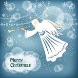 De engel van Kerstmis Stock Afbeeldingen