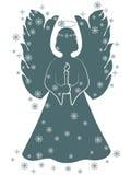 De engel van Kerstmis met een kaars Stock Afbeeldingen