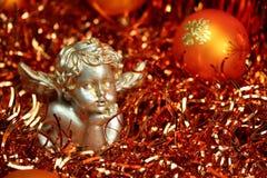 De Engel van Kerstmis - Sinaasappel Stock Afbeelding