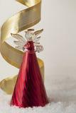 De Engel van Kerstmis van Blije Tijding Royalty-vrije Stock Fotografie