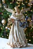 De Engel van Kerstmis van Kerstmis van de boom Stock Afbeeldingen