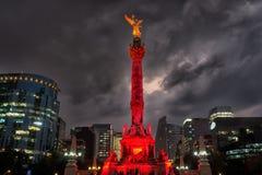 De Engel van Onafhankelijkheid in Mexico-City stock foto
